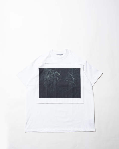 Photo Printed Oversized T-shirt 016 white