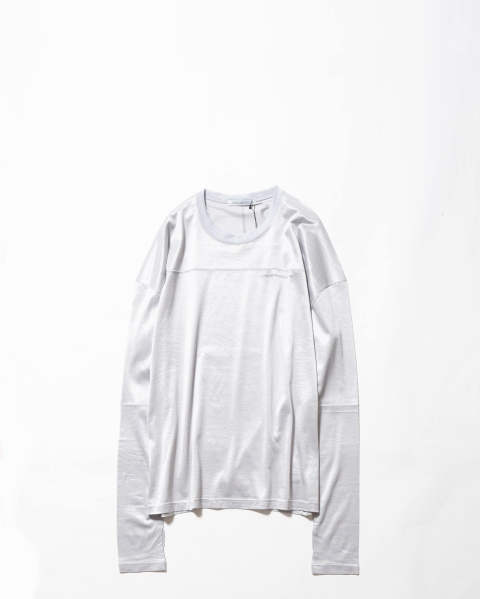 Shiny Jersey LS Football Top silver