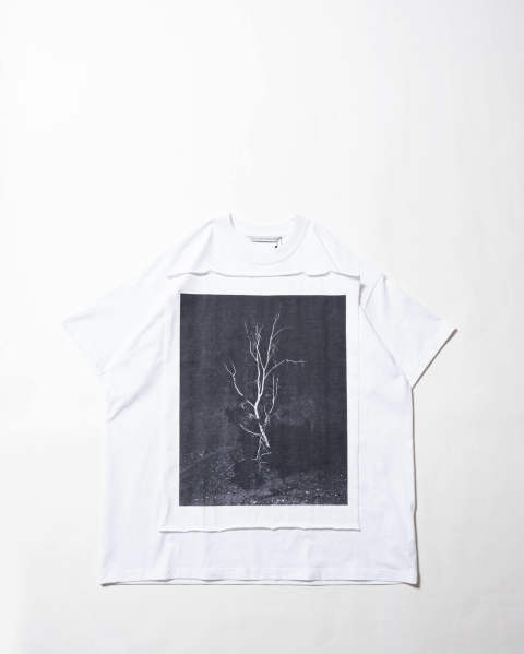 Photo Printed Oversized T-shirt 013 white