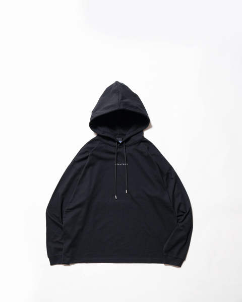 【LASU ONE(M)】Hooded tee visual black