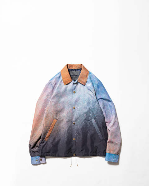 Watteau pleats coach jacket - landscape #3 Galaxy
