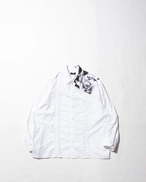 Cropped shirt with asymmetrical detail Pierced