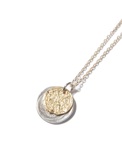 B.C. Coin Necklace / Bless - Silver×K18Yellow Gold B.C.コインネックレス / ブレス- シルバー×K18イエローゴールド