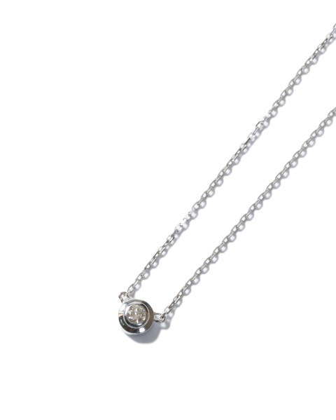 One Diamond Necklace K18 White Gold With Diamond ワンダイヤモンドネックレス