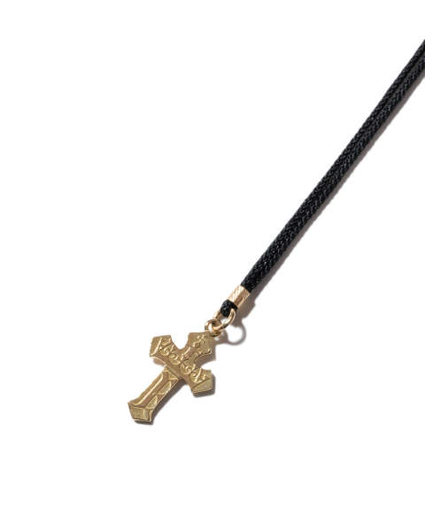 1940's Sixpence Cross Cord Necklace 1940's シックスペンスクロスコードネックレス