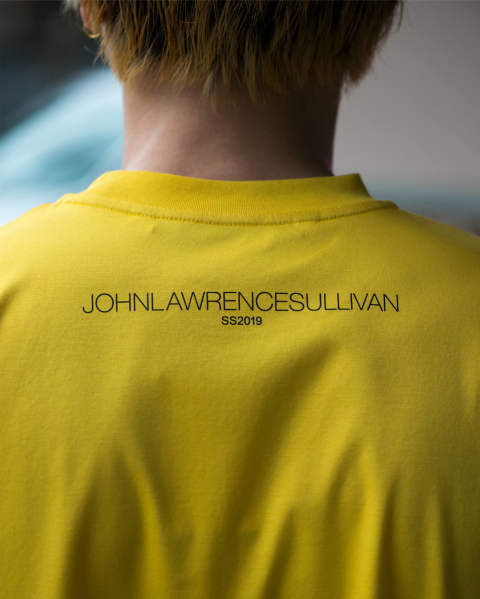 "JOHNLAWRENCESULLIVAN ""JLS"" PRINTED Tee Yellow"